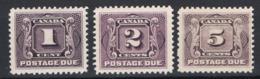 Canada 1906 Segnatasse Y.T.S1/3 MH/* VF/F - Segnatasse