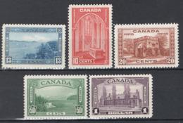 Canada 1984 Y.T.197/201 MH/MNH/*/** VF/F - 1937-1952 Regno Di George VI