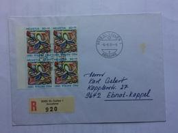 SWITZERLAND 1991 Registered Cover St. Gallen To Ebnat-Kappel - Switzerland