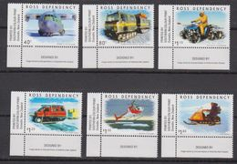 Ross Dependency 2000 Transport On The Ice 6v (corners) ** Mnh (42421) - Ross Dependency (Nieuw-Zeeland)