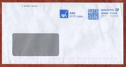 Brief, FRANKIT Neopost 1D150.., AXA Koeln, 70 C, 2018 (72642) - BRD