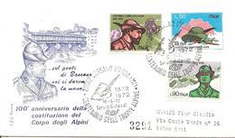 ITALIA - 1972 CASSANO D'ADDA (MI) Cent. Alpini Truppe Alpine Su Busta Fdc Roma Viaggiata Racc. - Militaria