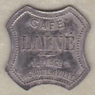 42 - LOIRE. Saint-Etienne, Café Lainé , 15 Centimes , Zinc Nickelé Octogonal - Monétaires / De Nécessité