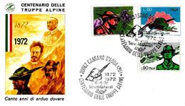 ITALIA - 1972 CASSANO D'ADDA (MI) Cent. Alpini Truppe Alpine Su Busta Fdc ASSOC. NAZ. ALPINI Viaggiata Racc. - Militaria