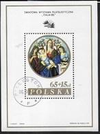POLONIA - ITALIA '85 - ESPOSIZIONE FILATELICA A ROMA 1985 - FOGLIETTO USATO (YVERT BF 104 - MICHEL BL 95) - Esposizioni Filateliche