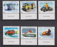 "Ross Dependency 2000 Transport On The Ice 6v (""Sea Sky Design"" In Margin) ** Mnh (42421A) - Ross Dependency (Nieuw-Zeeland)"