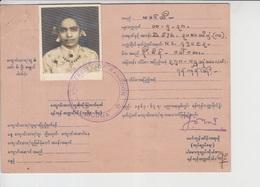 Burma Document ,   (A-2550) - Myanmar (Birma 1948-...)