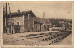 D91 -  ORSAY - LE GUICHET - Lignes De Chemin De Fer - Panneau  Publiciataire : Accus Fulmen - Orsay