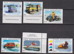 Ross Dependency 2000 Transport On The Ice 6v ** Mnh (42421D) - Ross Dependency (Nieuw-Zeeland)