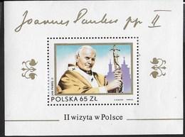 POLONIA - 2a VISITA PAPA GIOVANNI PAOLO II IN POLONIA 1983 - FOGLIETTO NUOVO** (YVERT BF 99 - MICHEL BL 91) - Cristianesimo