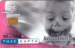 GREECE - Reflections Red, X1316, Tirage 25.000, 09/01, Used - Greece