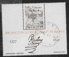 POLONIA - 400° NASCITA P.P. RUBENS 1977 - FOGLIETTO USATO (YVERT BF 73 - MICHEL BL 67) - Rubens
