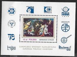POLONIA - ESPOSIZIONI FILATELICHE EUROPEE 1979 - FOGLIETTO NUOVO** (YVERT BF 85 - MICHEL BL 78) - Esposizioni Filateliche