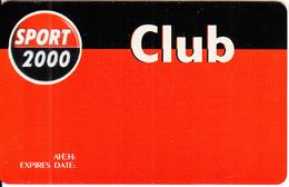 GREECE - Sport 2000 Club, Magnetic Member Card, Unused - Zonder Classificatie