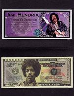 Jimi HENDRIX 1 000 000 $ Commémoratif 2012 UNC - Fictifs & Spécimens