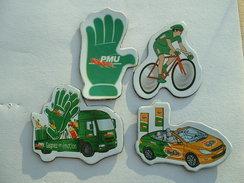 Lot De 4 Magnets Tour De France Cycliste - PMU - Magnets