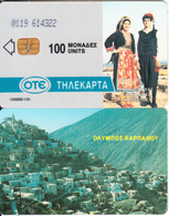 GREECE - Karpathos Island, Olympos Mountain, CN: 0119(0 With Barred), Tirage 6000, 01/94, Used - Greece