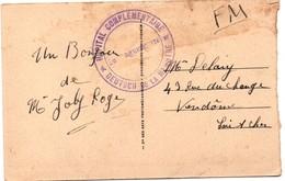 Hôpital Complémentaire Deutsch De La Meurthe - Vaguemestre - Sur Carte De Paris Vue De L'avenue De L'Opéra - Storia Postale