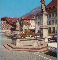 Sunbeam Alpine I Mercedes Ponton Borgward Isabella - STANS NW - Dorfplatz Mit Winkelriedbrunnen - Autres