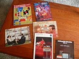 Lot Documents Sur Matériel Hi-fi Années 70 ( Saba - Telefunken-dual -schneider) + Haut Parleur  Avril 1958 - Musique & Instruments