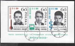 POLONIA - VOSKOD 1 - FOGLIETTO USATO 1964 (YVERT BF 41 - MICHEL BL 35) - Spazio