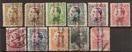 España Edifil 593/603 (º)  Alfonso XIII Sobrecargado República  1931  NL1403 - 1931-Hoy: 2ª República - ... Juan Carlos I