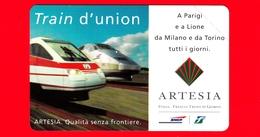 Nuova - MNH - ITALIA - Scheda Telefonica - TELECOM - Train D'union - A Parigi E A ..- Golden 580 - Variante - Italia