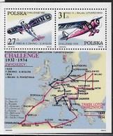 POLONIA - VITTORIA POLACCA CHALLENGE AEREO 1982 - FOGLIETTO NUOVO** (YVERT BF 95 - MICHEL BL 87) - Aerei