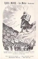 POLITIQUE Satirique Caricature ( Judaïca ) KARL MARX : The Moderne Moses - The Modern Moses - Le Moïse Moderne CPA - Sátiras