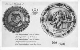 ART Faiences Earthenware Tonwaren Aardewerk - ECHT DELFT Van D. Teniers  - CPSM PF 1952 - Terracotta Loza De Barro - Arts