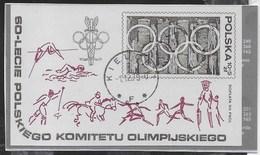 POLONIA - 60° COMITATO OLIMPICO POLACCO 1979 - FOGLIETTO USATO (YVERT BF 82 - MICHEL BL 74) - Giochi Olimpici