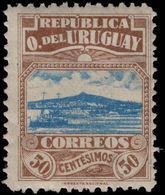 Uruguay 1919 Montevideo Harbour 50c Mounted Mint. - Uruguay
