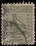 Uruguay 1924 50c Grey-olive Perf 11½ Chilean Lapwing, Barrios Imprint Fine Used. - Uruguay