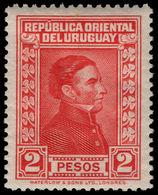 Uruguay 1929-33 2p Scarlet Waterlow Fine Mounted Mint. - Uruguay
