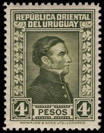 Uruguay 1929-33 4p Deep Green Waterlow Fine Mounted Mint. - Uruguay