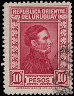 Uruguay 1929-33 10p Deep Lake Waterlow Fine Fine Used. - Uruguay