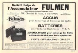 1927 - VILVORDE - Chaussée De Haren - Société Belge De L'Accumulateur FULMEN - Dim. 1/2 A4 - Advertising
