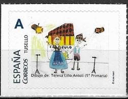 ESPAÑA. TUSELLO. 50 ANIVERSARIO EL CACHIRULO. ALCAÑIZ (TERUEL). DIBUJO INFANTIL - 1931-Hoy: 2ª República - ... Juan Carlos I