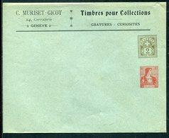 """Schweiz / Privatganzsachenumschlag """"MURISET-GICOT"""" ** (12571) - Interi Postali"""