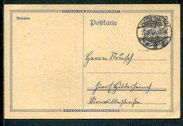 Deutsches Reich / 1922 / Postkarte Mi. P 116 Steg-Stempel Hildesheim (12582) - Deutschland