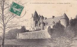 18  LA CHAPELLE D'ANGILLON. CPA. LE CHATEAU FACADE EST .  ANNEE 1910 - Other Municipalities