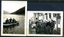 LOT DE 9 PHOTOS (2 PHOTOS 03/1940),(4 PHOTOS STALAG II B 1943) ET ( 3 CARTES PHOTO GROUPE ET PIECE DE THEATRE). - Guerre, Militaire
