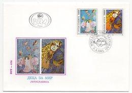 YUGOSLAVIA, FDC, 05.04.1993, COMMEMORATIVE ISSUE: CHILDREN FOR PEACE - 1992-2003 Federal Republic Of Yugoslavia
