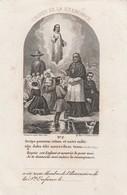 Gustave Joseph Delange-bertrée 1867-opgelet-bevestigd Op Andere Prent - Images Religieuses