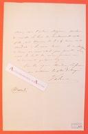 L.A.S Théodore VALERIO Peintre Graveur Lithographe Né à Herserange - Vichy Lettre Autographe LAS Collection Juncker - Autographes