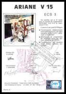 12101 Ariane V 15 1985 Esc3 Signé Signed Autograph France Espace Espace Space Lettre Cover - Lettres & Documents