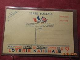 Carte En FM Avec Publicité Loterie Nationale - Cartes De Franchise Militaire