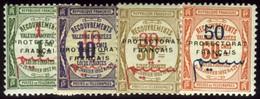 French Morocco. Sc #J23-J26. Postage Due. * - Morocco (1891-1956)