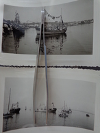 29 CONCARNEAU FETE DE LA MER LOT DE 2 PHOTOS BATEAUX 1955  13.2 X 9 CM - Lieux