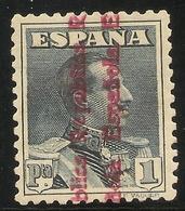 Edifil  602** Mnh  1 Peseta Pizarra  Alfonso XIII Sobrecargados  1931  NL533 - 1931-Hoy: 2ª República - ... Juan Carlos I